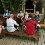 2011 - Nyckelharpa jam on the deck