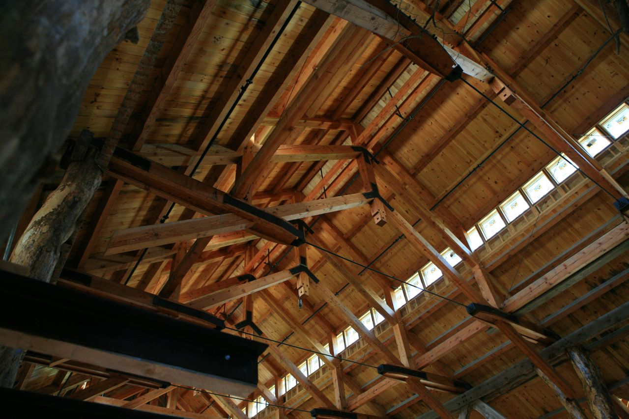 2012 - Ogontz Hall, the ceiling structure
