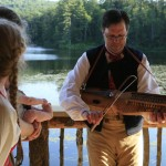 2012 - Nyckelharpa played on the deck of the boathouse
