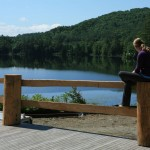 2012 - Enjoying the view off the new dance hall deck