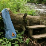 2012 - Fiddle case by the log bridge
