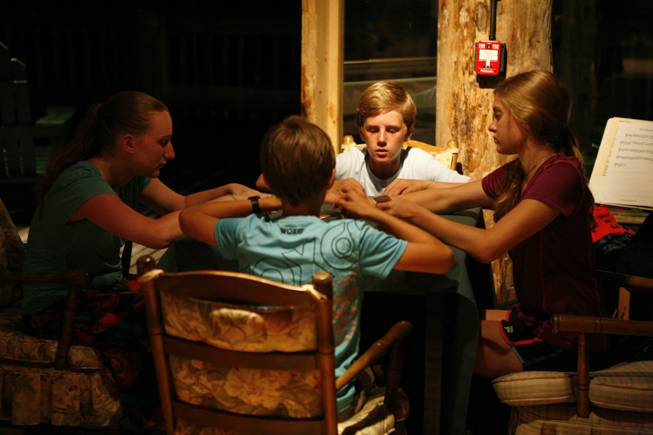 2013 - Late night card game in the dance hall