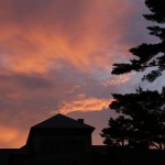 2014 - Sunset over Ogontz Hall