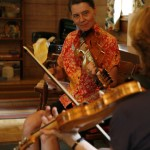 2014 - Loretta's teaching Hardanger fiddle