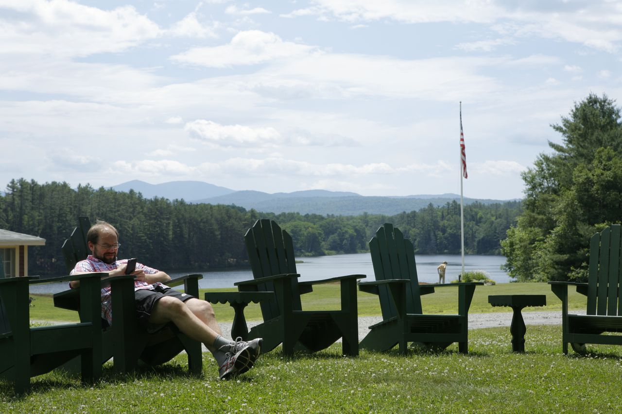 2014 - Henning relaxing at the end of camp